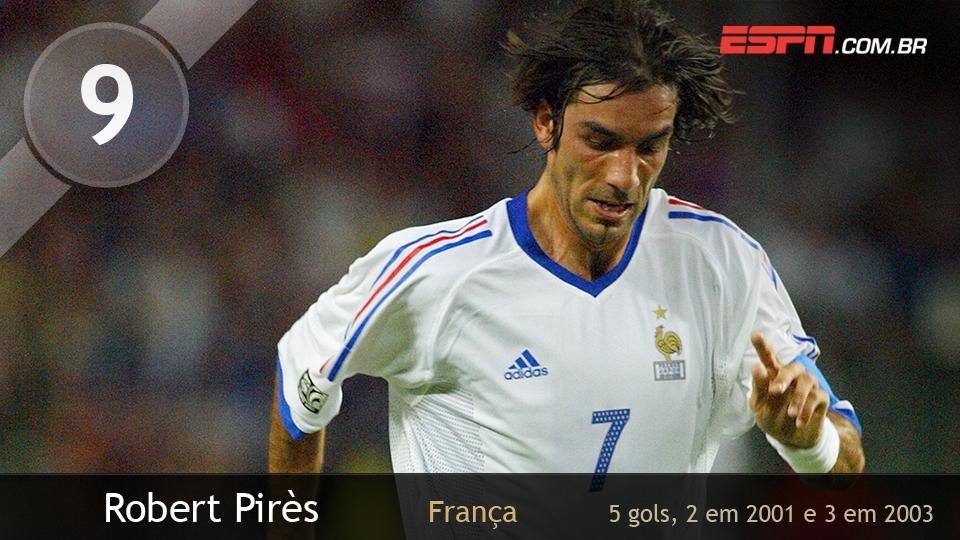 Se a França foi bicampeã, muito se deve a Pires: o meia fez gols em duas semis, contra o Brasil, em 2001, e diante Turquia, em 2003
