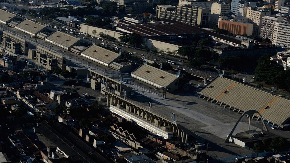 Reforma do Sambódromo já foi concluída, e o local será palco do tiro com arco e da chegada da maratona