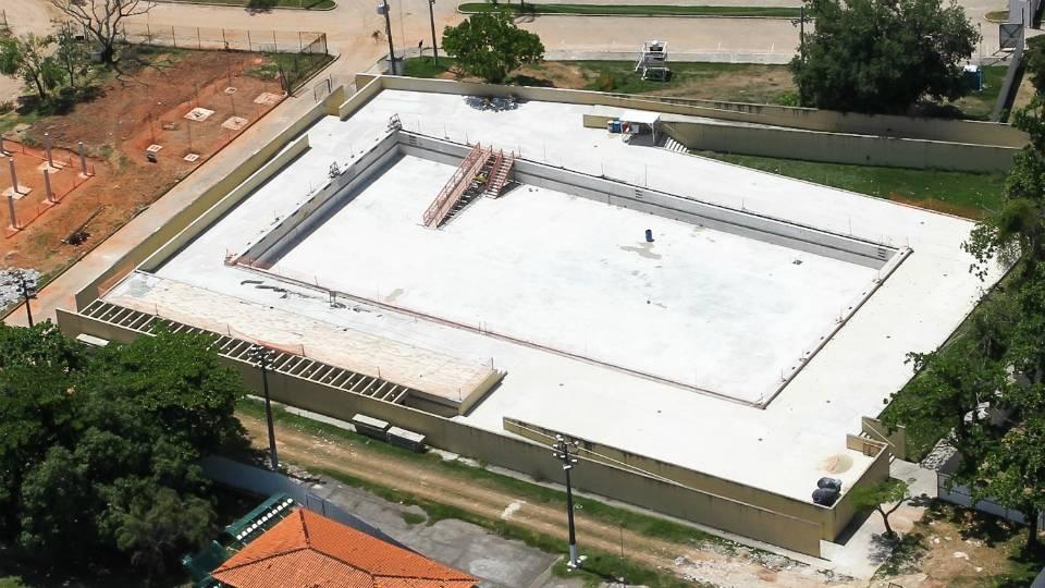 Centro Aquático de Deodoro, onde será disputado o pentatlo moderno, já existe e será reformado