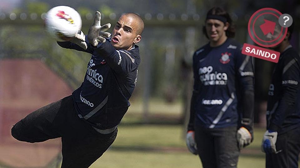 Julio Cesar chegou a ser titular do Corinthians, mas, desde que perdeu a titularidade, sua saída sempre foi especulada