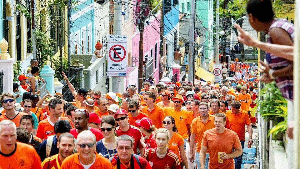 Torcida da Holanda foi 'em peso' para o jogo em Salvador