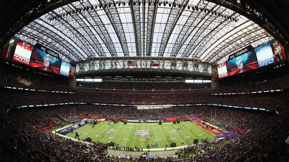 Vista geral do NRG Stadium momentos antes do Super Bowl LI