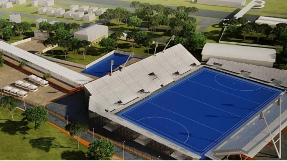 O Centro Olímpico de Hóquei sobre Grama, em Deodoro, está sendo construído e deve ficar pronto no fim de 2015