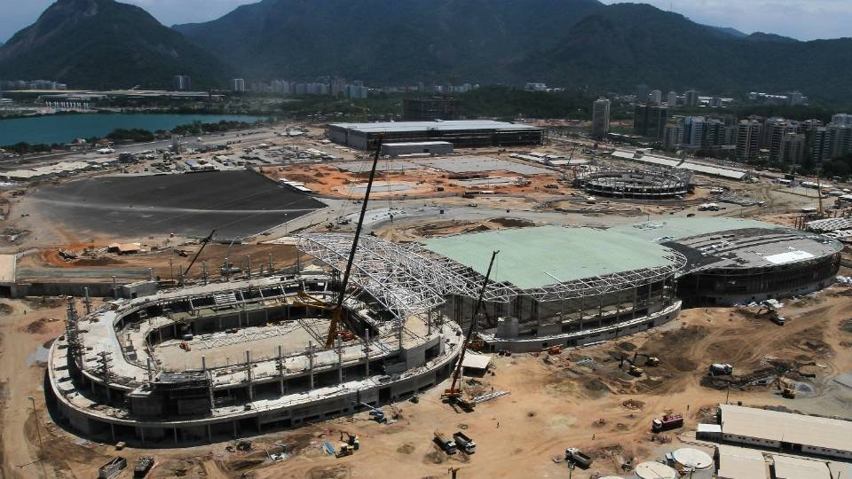 Imagens aéreas mostram evolução das obras das três Arenas Cariocas da Olimpíada de 2016