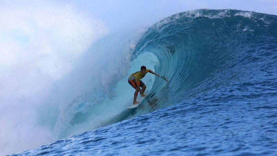 Os clássicos tubos de Teahupoo mostraram que Medina estava preparado para surfar e vencer em todo tipo de onda