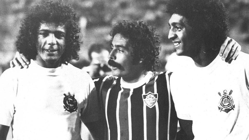 César Maluco, Rivellino e Basílio, em encontro em 1975