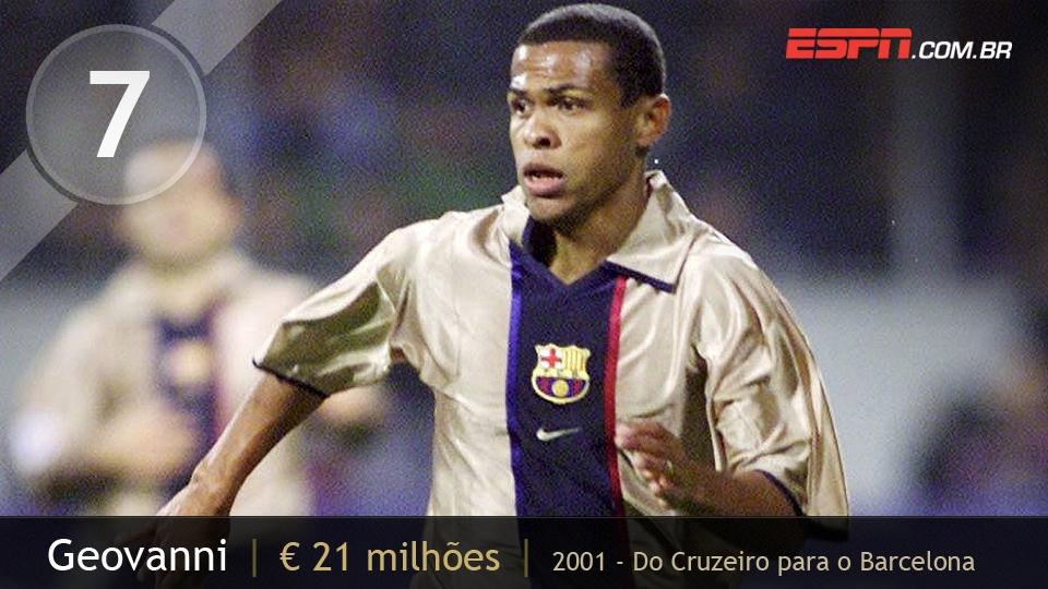 Meia-atacante veloz e driblador, Geovanni foi negociado pelo Cruzeiro com o Barcelona, mas não conseguiu explodir no time espanhol