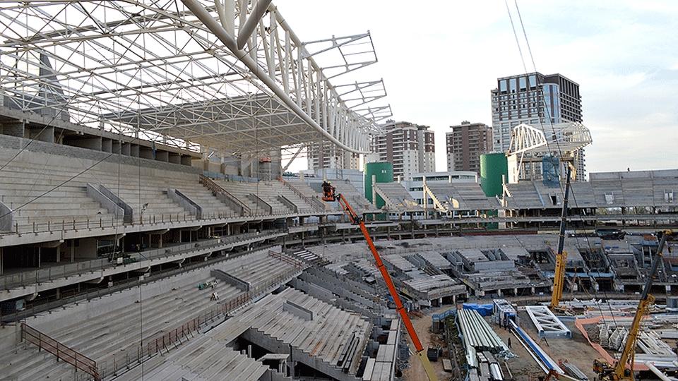 O Allianz Parque será a nova casa do Palmeiras, quando a equipe voltar da Série B do Brasileiro; veja como andam as obras