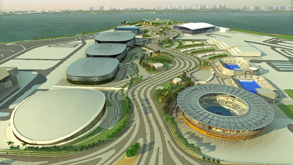 Projeto do Parque Olímpico de 2016, na Barra, que vai ter nove arenas esportivas, além do IBC e do MPC