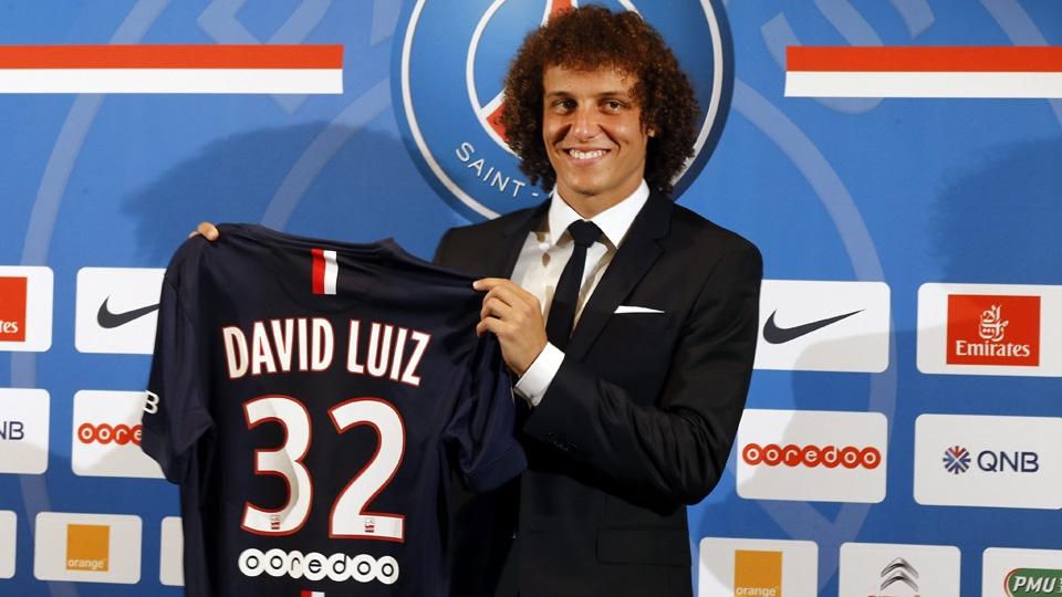 ZAGUEIRO: David Luiz - do Chelsea ao PSG - 50 milhões de libras (R$ 208,5 milhões)