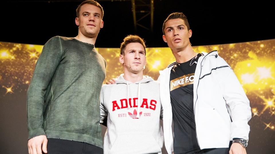 Messi, Cristiano Ronaldo e Neuer são os três concorrentes ao prêmio