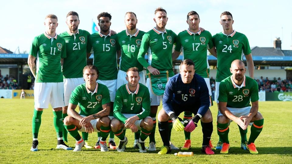 TIME MAIS VELHO: Irlanda (média de 29,39 - 11 jogadores têm 30 anos ou mais)