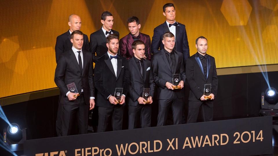 Seleção do Bola de Ouro tem três jogadores que foram campeões do mundo com a Alemanha