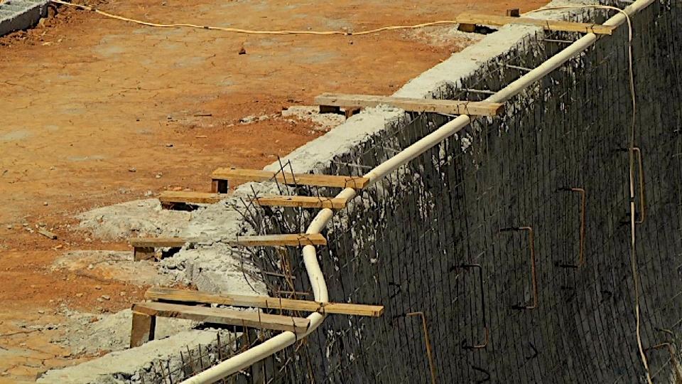 Detalhe da rampa que está sendo construída por Gui Kakinho
