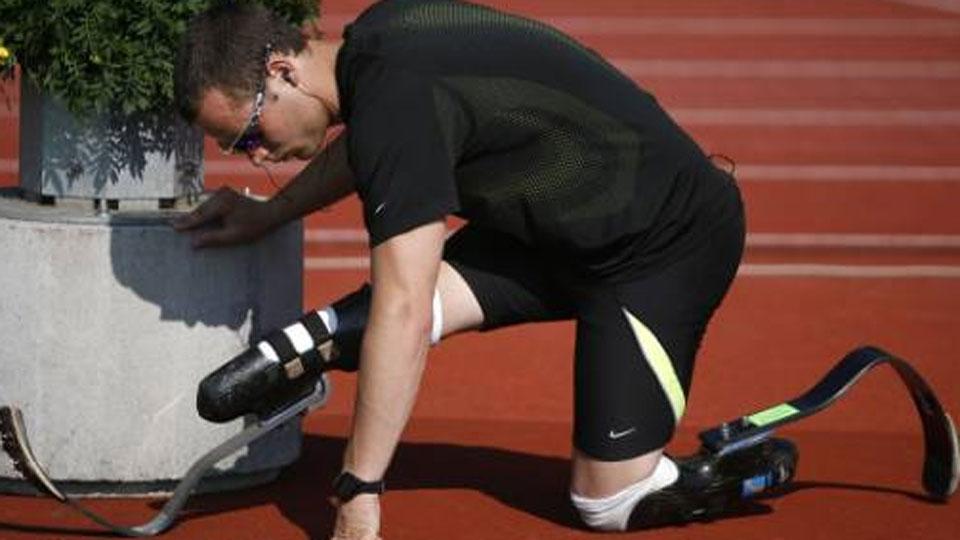Oscar Pistorius durante seletiva para os Jogos de Londres, na Inglaterra, em 2012