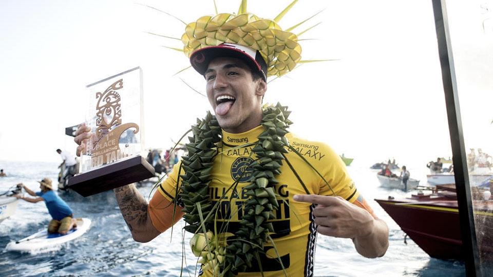 No Tahiti, Gabriel conquistou a terceira vitória do ano para o Brasil.