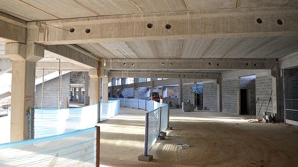 Visão do primeiro pavimento da arena Allianz Parque