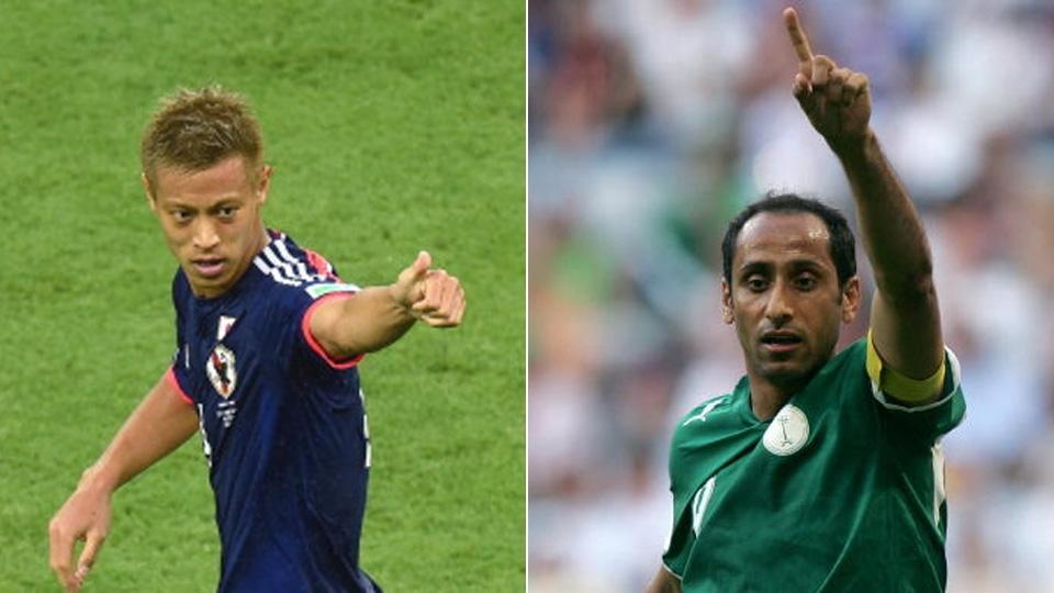 O japonês Keisuke Honda e o saudita Sami Al-Jaber são os maiores artilheiros da Ásia, com 3 gols