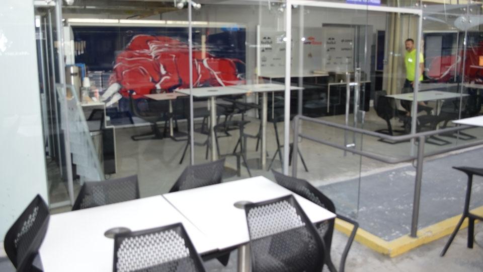 Espaço da Toro Rosso para hospitalidade
