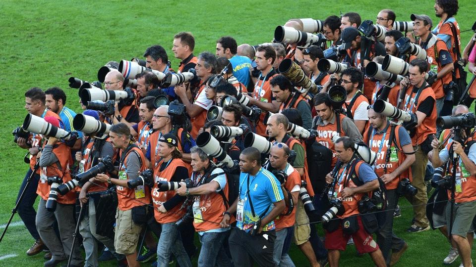 Fotógrafos se aglomeram