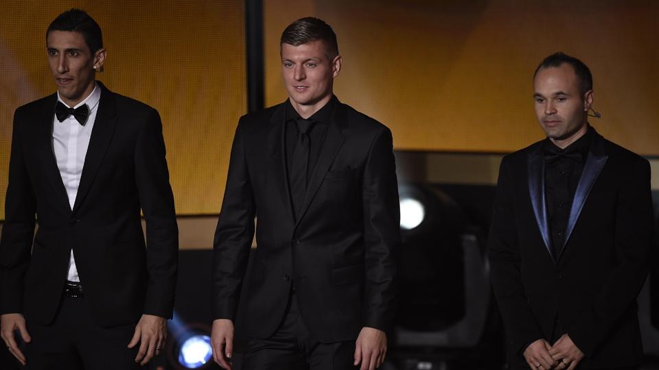 Di María, Kroos e Iniesta foram eleitos os melhores meias de 2014