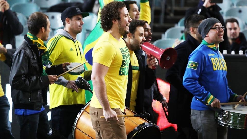 Torcida brasileira compareceu em peso à partida