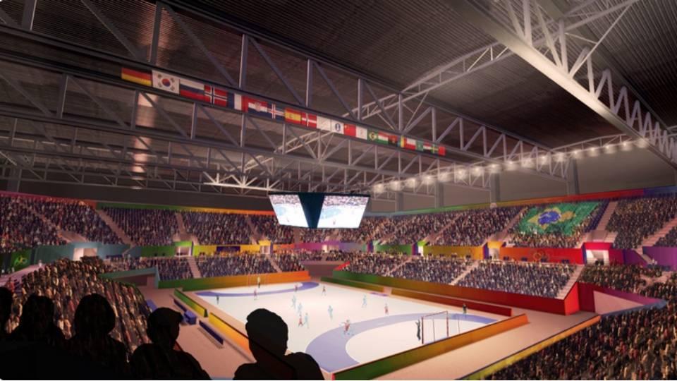 A estrutura da Arena do Futuro, no Parque Olímpico da Barra, vai dar lugar a quatro escolas depois dos Jogos