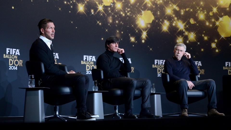 Simeone, Joachim Löw e Ancelotti, os concorrentes ao prêmio de melhor treinador