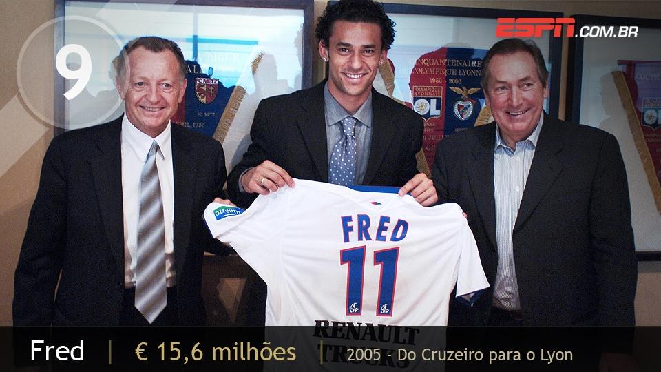 Atacante veloz e com faro de gol, Fred começou no América-MG e chamou a atenção no Cruzeiro, quando o Lyon o contratou