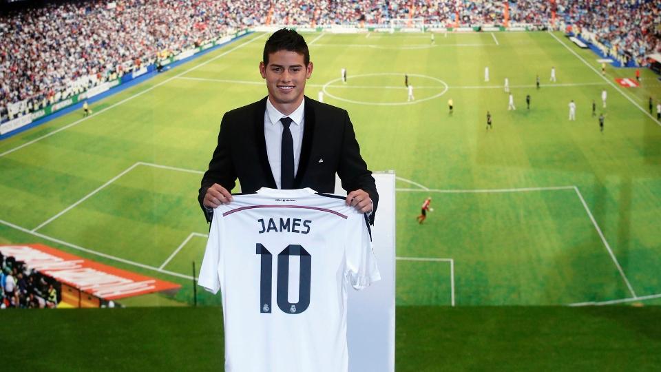 MEIA: James Rodríguez - do Monaco ao Real Madrid - 65,6 milhões de libras (R$ 273,6 milhões)