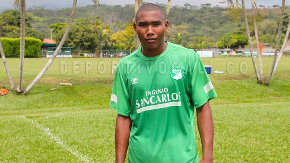 O atacante colombiano Alveiro Sánchez teve uma passagem pelo Deportivo Pasto em 2016 e retornou ao Deportivo Cali em 2017