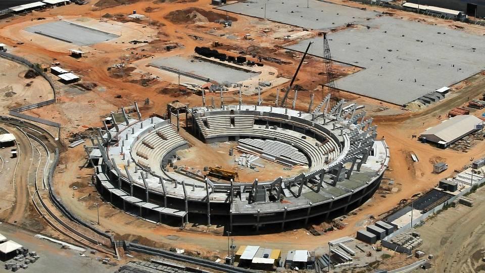 Centro de Tênis do Parque Olímpico é uma das construções mais avançadas neste momento