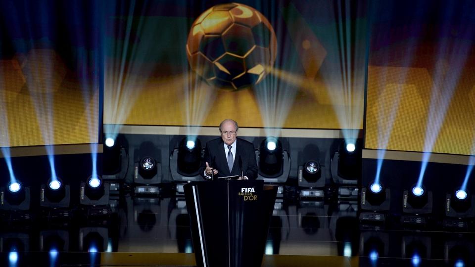 Blatter antes do início das premiações