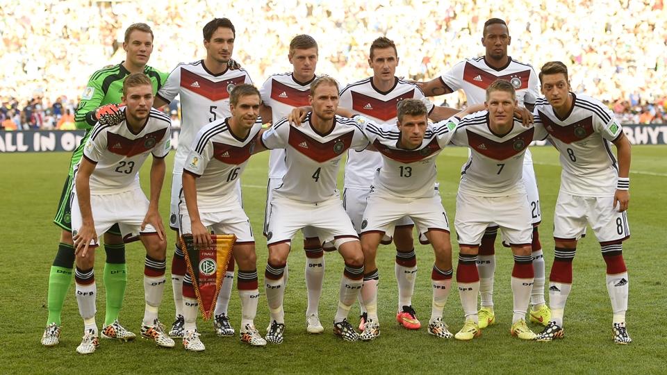 Equipe titular da Alemanha na final da Copa do Mundo
