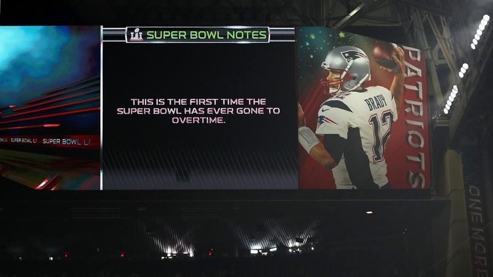 Pela primeira vez na história, o Super Bowl vai para uma prorrogação