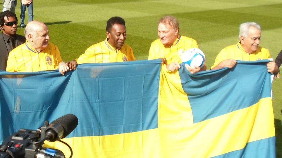Em 2012, Zito foi um dos homenageados pelo título de 58, em amistoso Suécia x Brasil. Na foto, estão Pepe, Pelé, Mazzola e Zito
