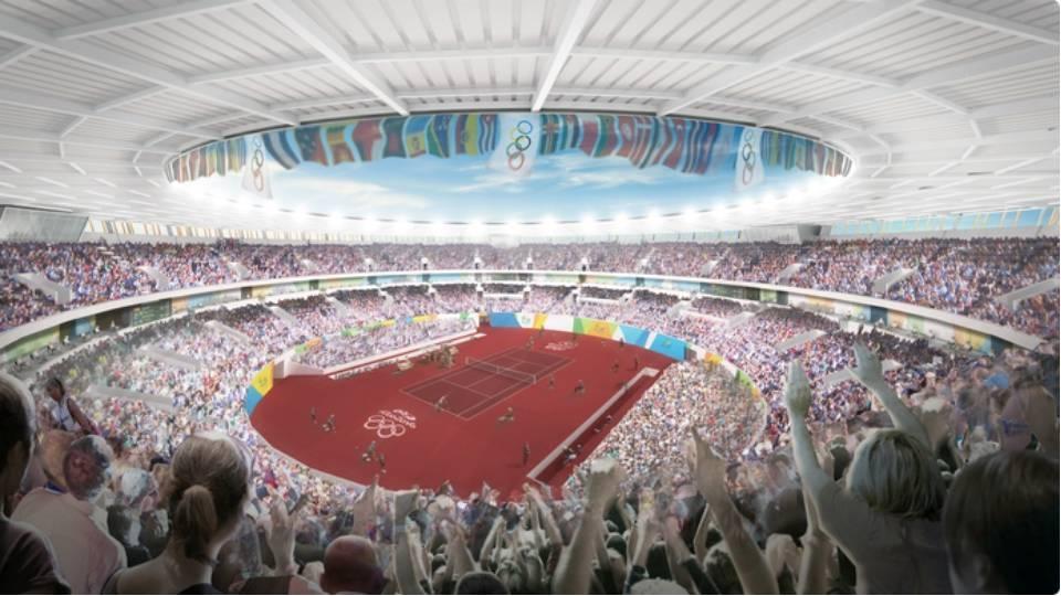 Quadra central do Centro Olímpico de Tênis terá capacidade para 10 mil torcedores e ficará como legado