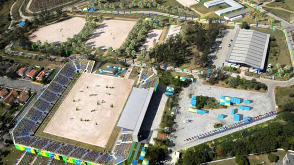 Ilustração de como ficará o Centro Olímpico de Hipismo, em Deodoro, após a reforma