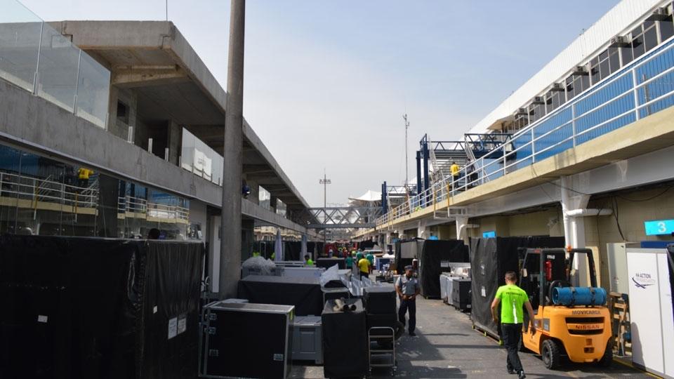 Paddock reformado da Fórmula 1 em São Paulo neste ano