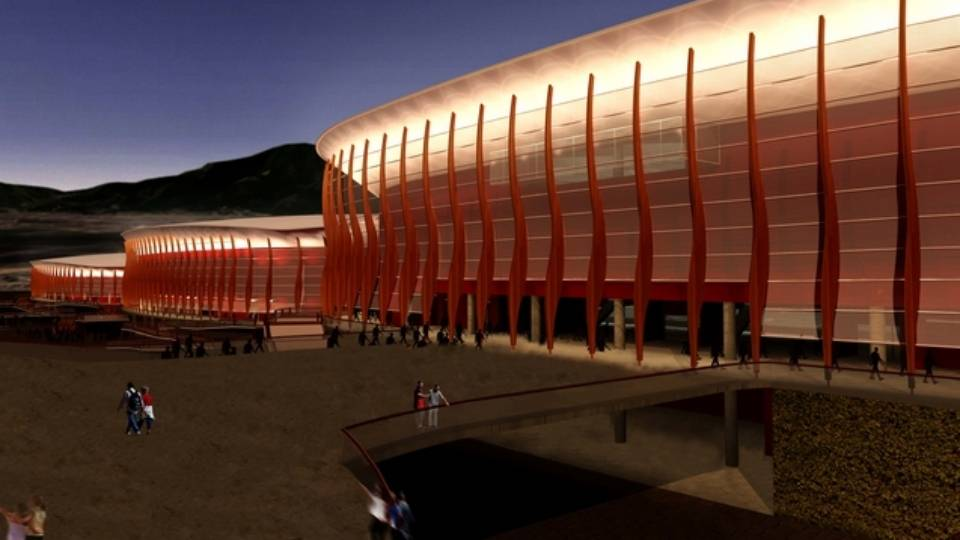 Projeto das Arenas Cariocas 1, 2 e 3, onde serão disputadas quatro modalidades olímpicas e três paralímpicas