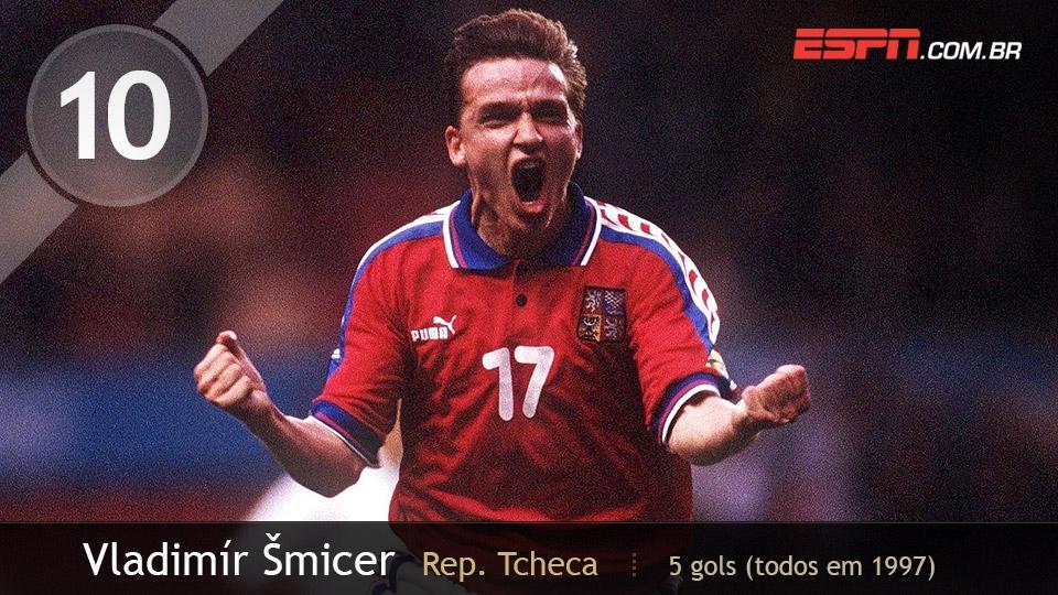Na única aparição da Rep. Tcheca no torneio, em 1997, Smicer fez 5 dos 10 gols da equipe, que só parou na semi contra o Brasil