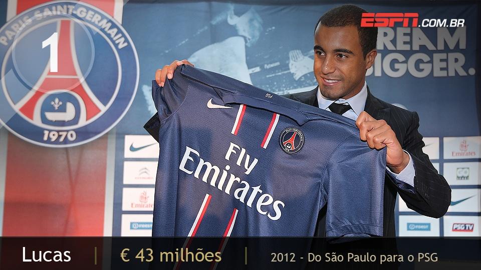 Revelado pelo São Paulo, Lucas se tornou a maior negociação do futebol nacional ao ser vendido para o PSG, da França