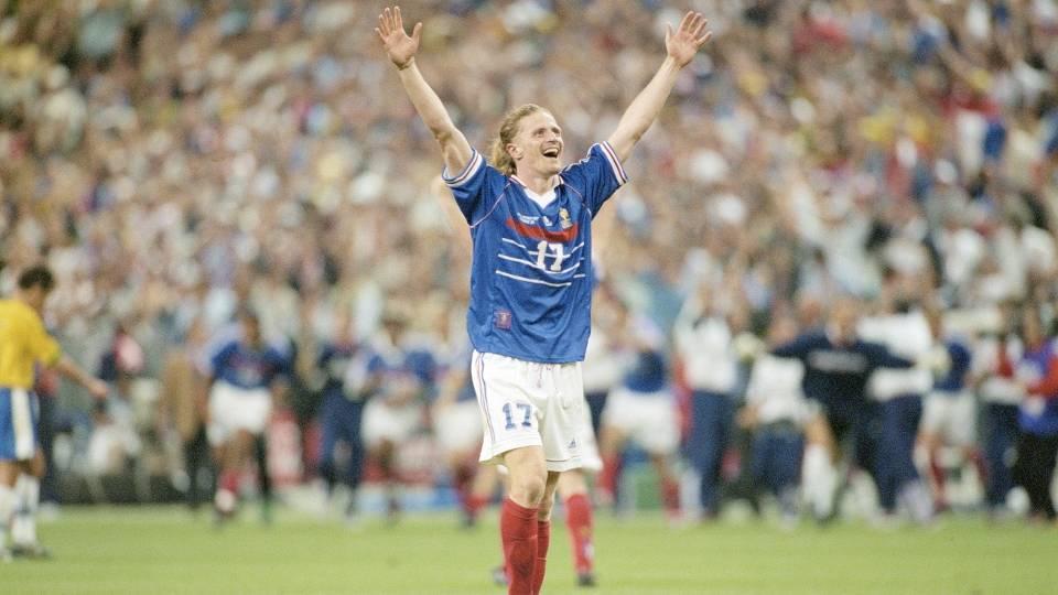 Emmanuel Petit - Autor do 3º gol na final em 1998, hoje é comentarista na France Télévisions