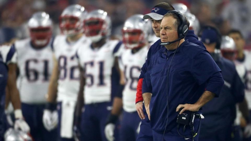 O técnico Bill Belichick, dos Patriots, durante o Super Bowl LI contra os Falcons