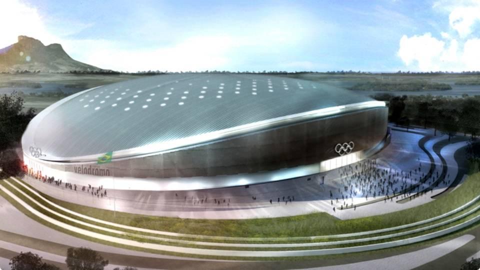Projeto do Velódromo Olímpico, que vai receber seu primeiro evento-teste em março de 2016