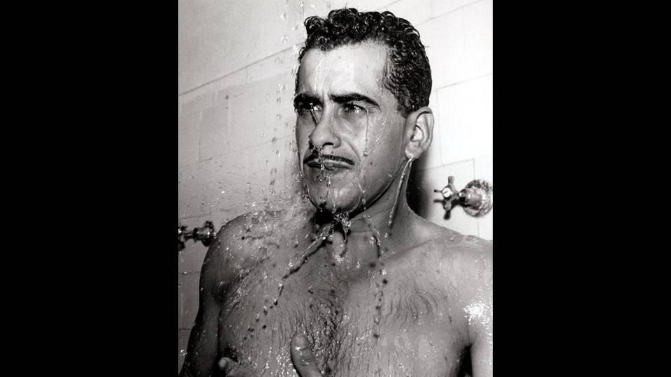 Zito depois de um jogo do Santos, provavelmente em 1964