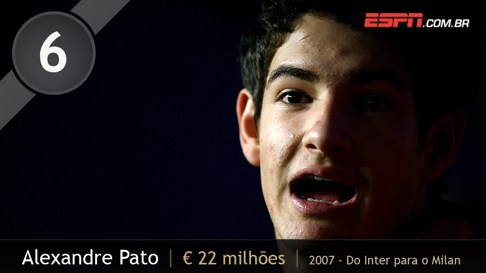 Alexandre Pato pintou como um 'diamante' no Inter, que até o escondeu do time principal; antes de completar 18 anos, foi negociado com o Milan