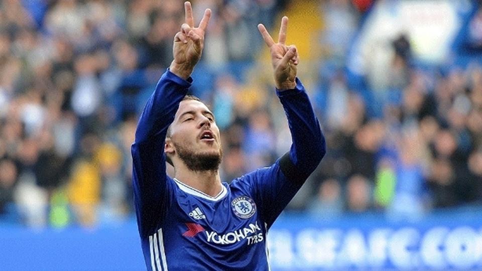 Hazard: 8º no Fifa 18, com 90 pontos; 9º maior valor no Transfermarkt, 75 milhões de euros