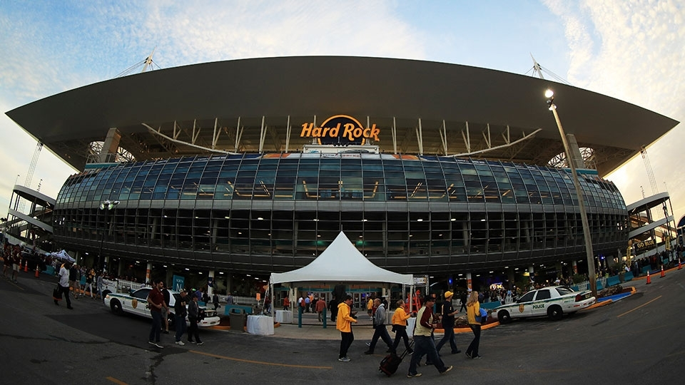 10. Hard Rock Stadium, em Miami (EUA) - estádio do Miami Dolphins, da NFL
