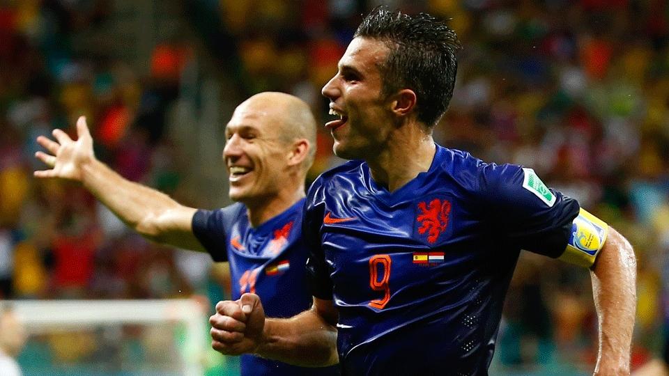 Robben e Van Persie, os nomes do jogo para a Holanda